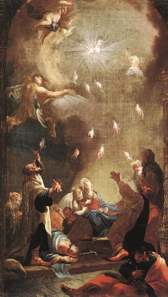 Pentecost - Joseph Ignaz Mildorfer