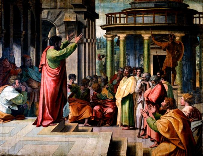 Raphael - Paul Preaching in Athens